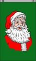 VERTICAL SANTA CLAUS FACE CHRISTMAS 3 X 5 FLAG