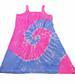 PINK & BLUE SWIRL  TIE DYED WOMENS DRESS