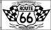 ROUTE 66 BLACK AND WHITE 3 X 5 FLAG