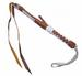 DELUXE BROWN / WHITE MEXICO LEATHER HORSE RIDING CROP