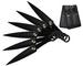 THROWING KNIFE SET 6PC WRAPPED HANDLE W CASE