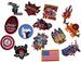 ASSORTED NOVELTY / BIKER EMBROIDERED PATCHES -* CLOSEOUT 75 CENTS