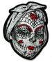 SUGAR SKULL FACE POSTER 3 INCH EMBROIDERED PATCH