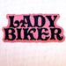 LADY BIKER EMBROIDERED PATCH