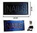 LARGE LIGHT UP LED NAILS SIGN --* CLOSEOUT NOW ONLY $ 15.00