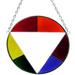 Gay Pride Stained Glass Circle