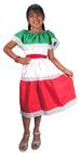 Girls Mexcian Flag Color DRESS