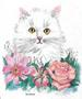 Apparel T-shirt Fashion Boutique Printed:''Cat with FLOWERS''