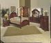 Furniture,  6 pcs Bedroom Set:bed,Dresser, Mirror,Chest,TV Moire