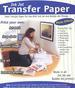 Inkjet Opaque Plain Transfer Paper 8.5''x11'' for Dark Color.