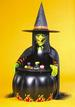 HOLIDAY Halloween 3 Ft. Witch Cauldron Cooler