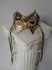 Holiday Halloween Venetian Mask -bBlack Gold W / DIAMONDs