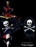 Apparel T-shirt Bad To The Bone Printed:''Pirate DAGGER''