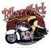 Apparel T-shirts Humor Printed:''BIKER chick''