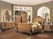 Furniture,  6 pcs  Bedroom 6104:Bed,Dresser,Mirror,Chest,TV Moire