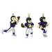 Mini sports FIGURINE Ornaments 3-Packs Set - NFL Baltimore Ravens
