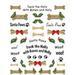 T-Shirts HOLIDAY & Seasonal Christmas Printed: ''Santa Paws Cut-Up