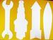 Dye Sublimation WRENCH, Sparkplug, Arrow, Surfboard