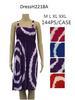 Wholesale Simple Strap Tie Dye Color Circle Pattern SUMMER DRESS