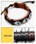 EVIL EYE Hand LEATHER Bracelet