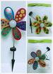 Solar WIND SPINNER Colors Assorted. Stake Length: 18'' Dia: 11.5''