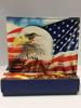 USA FLAG+EAGLE BIFOLD LEATHER WALLET