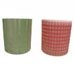 Printed VOTIVE CANDLE Holder - Two Assorted