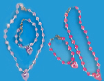 Heart Necklace and BRACELET Sets