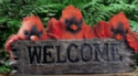 Cardinal Family With ''Welcome SIGN''