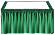 Heavy Duty  Table SKIRT - Green +*FREE Merchandise