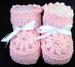 Baby Knitted Crochet  Booties - Pink Color - Size: NEW Born