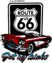 ''ROUTE 66'' Screenprinted T Shirt - White ....... Got My Kicks