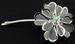 HAIR ACCESSORIES - HAIR Clip  Silver Flower With  Rhinestones