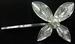 HAIR ACCESSORIES - HAIR Clip  Silver Flower With  Rhinestones