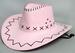 Native Pride - Cow Boy/Western Faux LEATHER Hat - Pink Hat