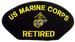 Embroidered Military PATCHES - US Marine Corps - Retired