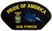 Embroidered Military PATCHES - Air Force - Pride of America