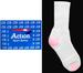 ''Action'' Sports SOCKS For Adults  - White  & Pink