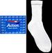 ''Action'' Adult  Cotton Sports SOCKS - White  - Size: 9-11