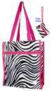 ''Zebra Prints''  2Pc TOTE BAG & Money Purse Set