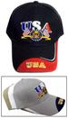 USA Embroidered Caps .... US FLAGs & Seal
