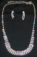 Fine Rhinestones  - 3Pc  Necklace & EARRINGS Sets  ( # KYLN-2354)