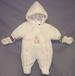 Embroidered Snow Suits  For NEW Borns. Sizes: 3/6 Mos.