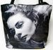 TOO COOL ''INGRID BERGMAN'' FLAT BOTTOM TOTE/BEACH BAG ZIPPERED TOP