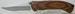 LARGE FOLDING POCKET KNIFE W/HAND RUBBED HARDWOOD HANDLES