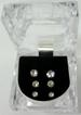 3-PAIR CRYSTAL STUDDED EARRINGS IN DISPLAY BOX, JEWELRY