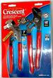 CRESCENT 2 PC. TONQUE & GROOVE PLIERS SET. TOOLS