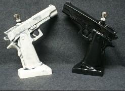 ceramic FIGURINE Pipe - Handgun