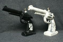 8'' Hand Canon Ceramic FIGURINE Pipe
