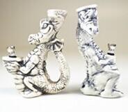 Ceramic FIGURINE Pipe